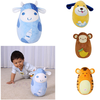 Cute Tumbler Doll Plush Inflated Animal Toys Shaking & Nodding and Sweet Tinkling Baby Toddler Developmental Toys Gifts