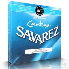 مجموعة كاملة من سلاسل جيتار سافاريز لعام 510 من سلسلة Cantiga باللون الكريستالي الجديد من مجموعة 510CJ