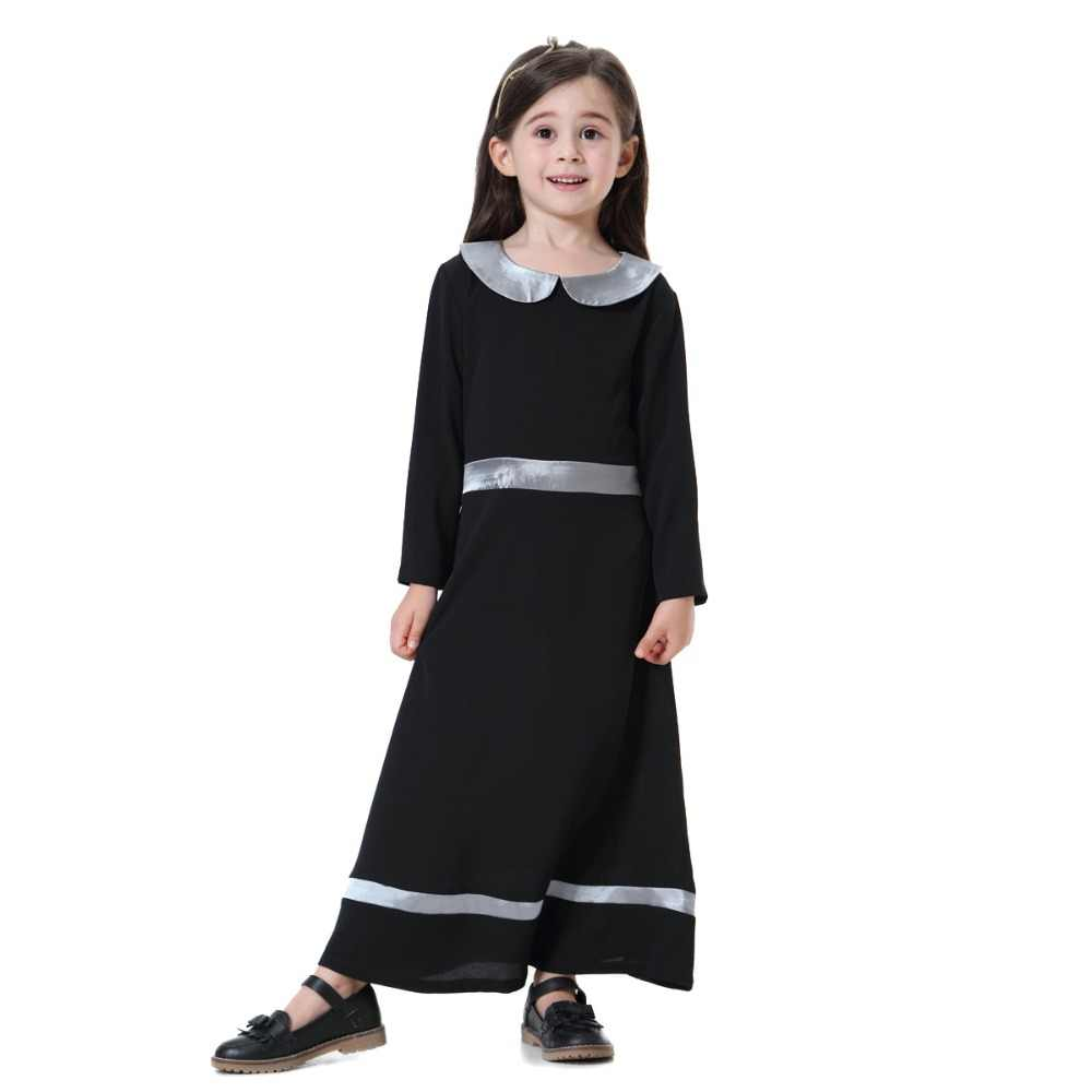 Fashion Muslim Children Abaya Girls Maxi Dress Teenage Girls Burka