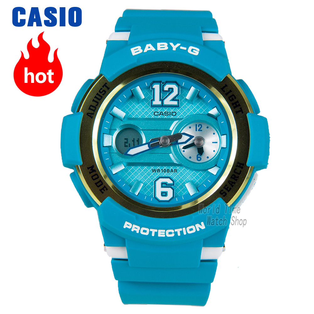 Casio watch BABY-G Women's quartz sports watch waterproof fashion multi-function baby g Watch BGA-210 casio watch tide three dimensional electronic sports female watch bga 180 2b bga 180 1b bga 180 7b2 bga 180be 7b bga 180 7b1