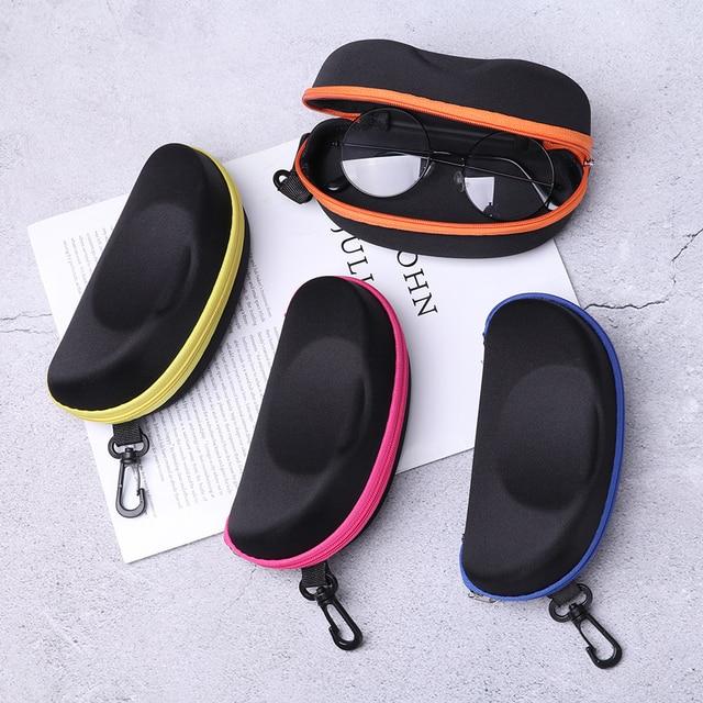 1PC Portable Carabiner EVA Eye Glasses Sunglasses Hard Case Zipper Eyeglasses Protector Box Holder Eyewear Accessories