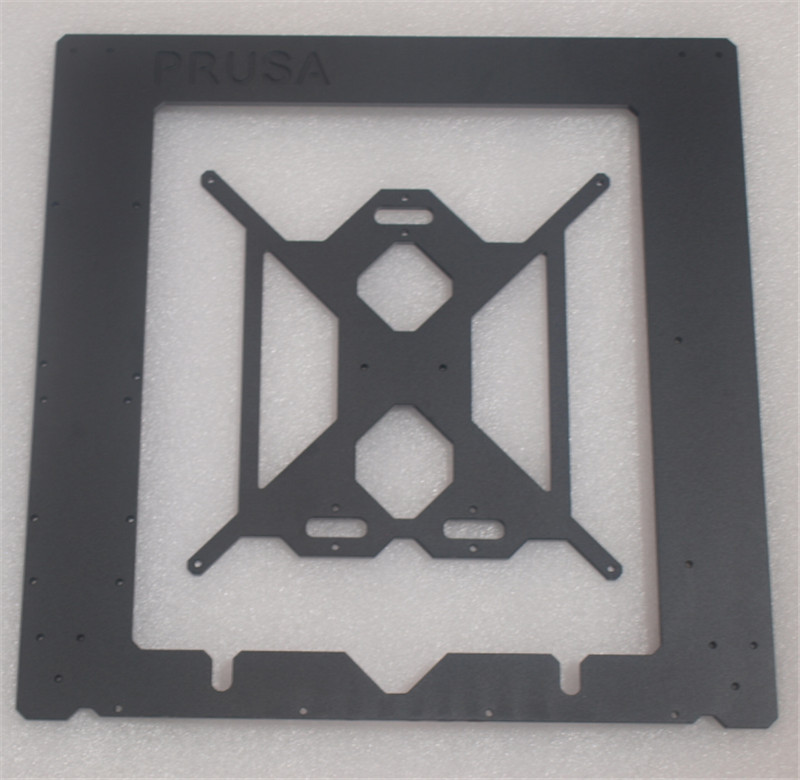Reprap Prusa i3 MK2 Clone aluminum Single frame +heating bed 6mm thickness black color made