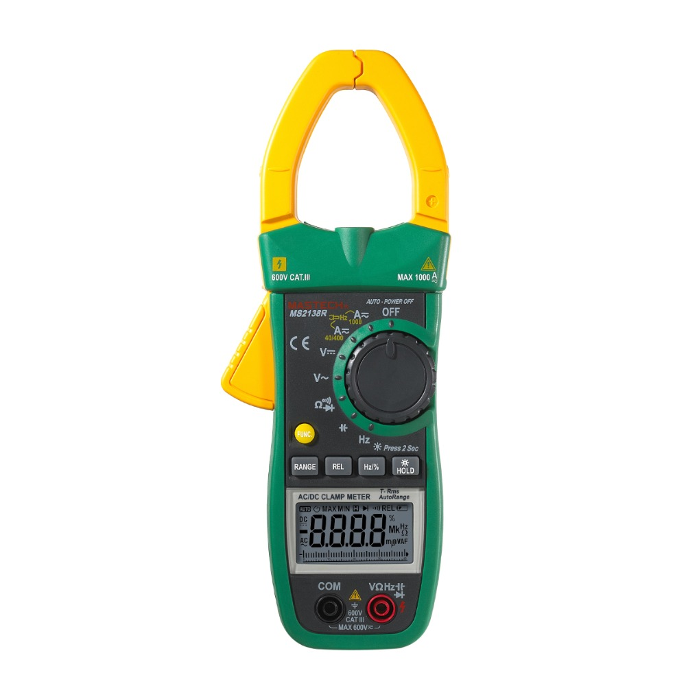MASTECH MS2138R 4000 countsTure  RMS AC / DC 1000A Current  clamp multimeter free shipping mastech ms2138r 4000