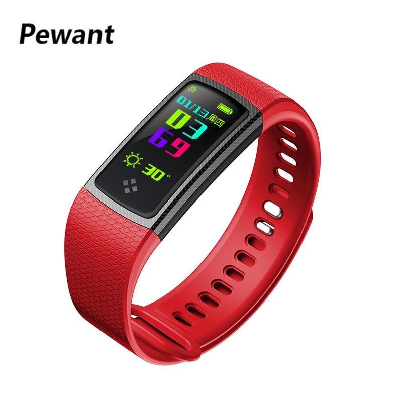 Nouveau Pewant S9 Smart Bracelet Bande Bluetooth Couleur LCD Écran Montre Smart Watch Moniteur de Fréquence Cardiaque Fitness Tracker PK Xiaomi Bande 2