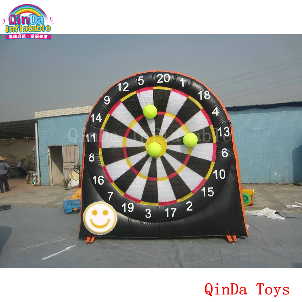 Outdoor funny game 3 m height giant inflatable dart board, inflatable foot darts for sale rowsfir dart board 6 darts set funny play dartboard soft head darts board game toy fun party accessories gambling new year gift