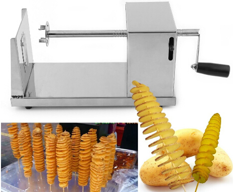 Hotsale tornado potato cutter machine spiral cutting machine chips machine Kitchen Accessories Cooking Tools Chopper Potato Chip