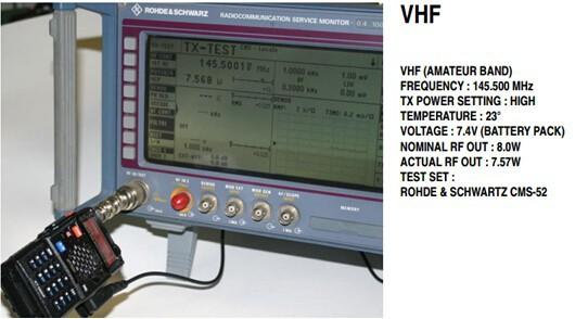 test vhf