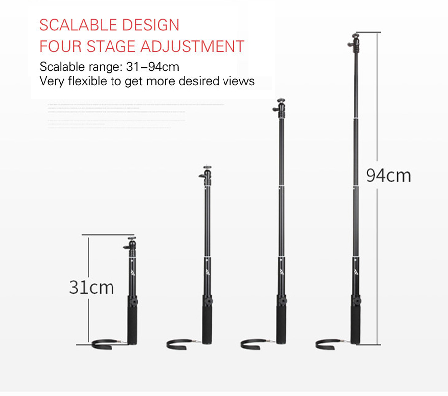 DJI OSMO Extension Pole Rod Scalable Extension Stick for DJI Osmo &DJI Osmo &DJI + OSMO Mobile Handheld Gimbal Accessories 10
