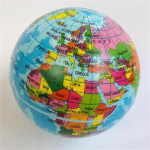 Foam world map earth globe stress relief bouncy ball atlas geography foam world map earth globe stress relief bouncy ball atlas geography toy in toy balls from toys hobbies on aliexpress alibaba group gumiabroncs Gallery