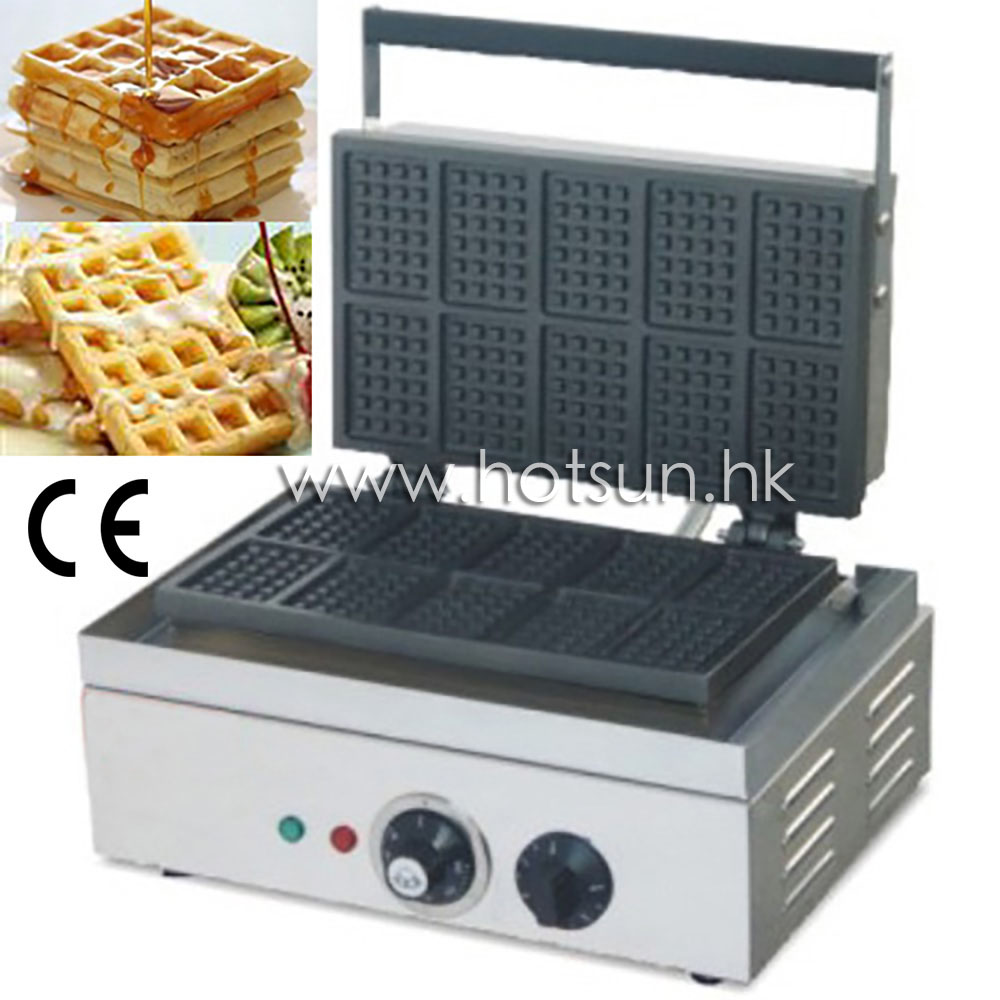 110v 220v Electric Rectangle Belgian Waffle Liege Waffle  Iron Baker Maker Machine rotating 220v electric belgian waffle baker liege waffle maker machine iron