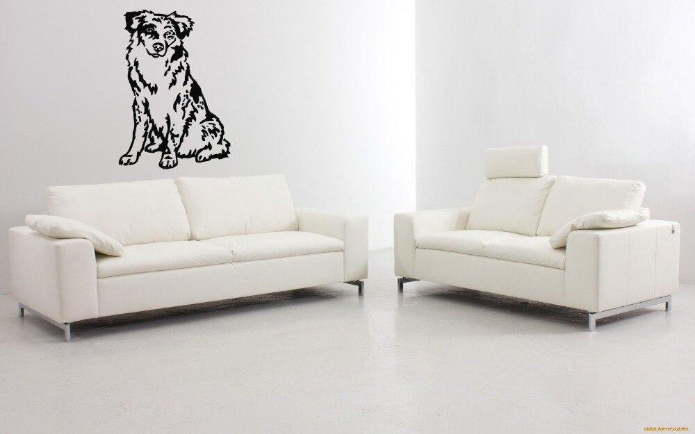 ₩Australia sheph Puppy Dog breed PET animal Wall sticker Decal mural ...