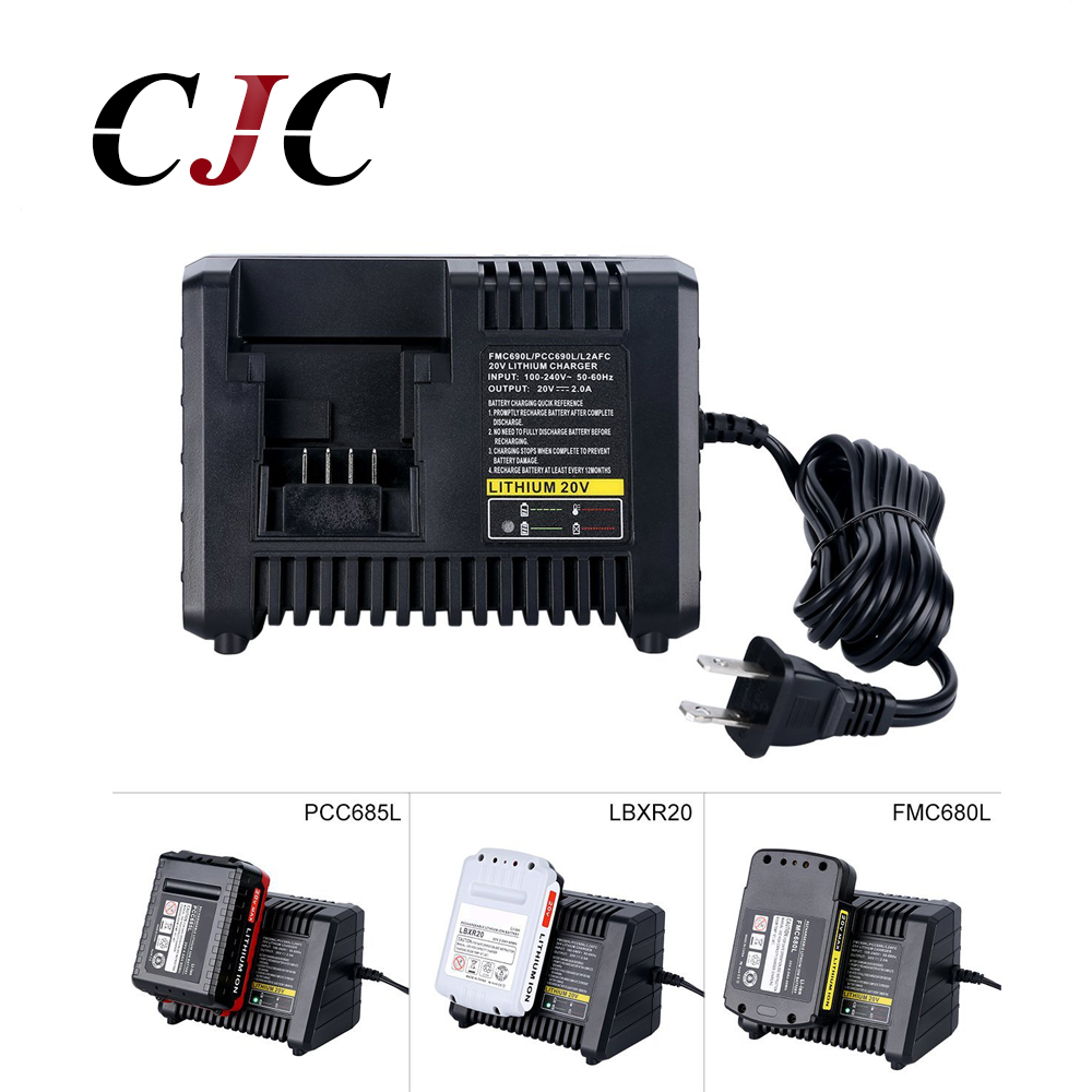 3 in 1 Power Tool Battery Charger For Black Decker For Porter cable For Stanley 20V