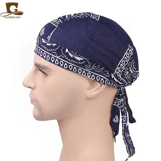 New Fashion Women Men Cotton Skull Caps Paisley Bandanas Headwear Unisex Bicycle  cycling Hat durag do rag Cap hair accessories 1