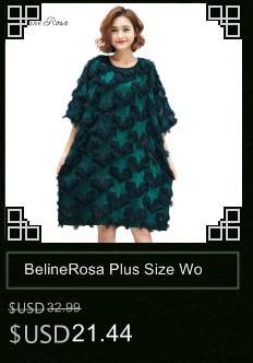 1c1a8c8a8d9 BelineRosa 2018 Women s Plus Size Lace Dresses Loose Style Pure ...