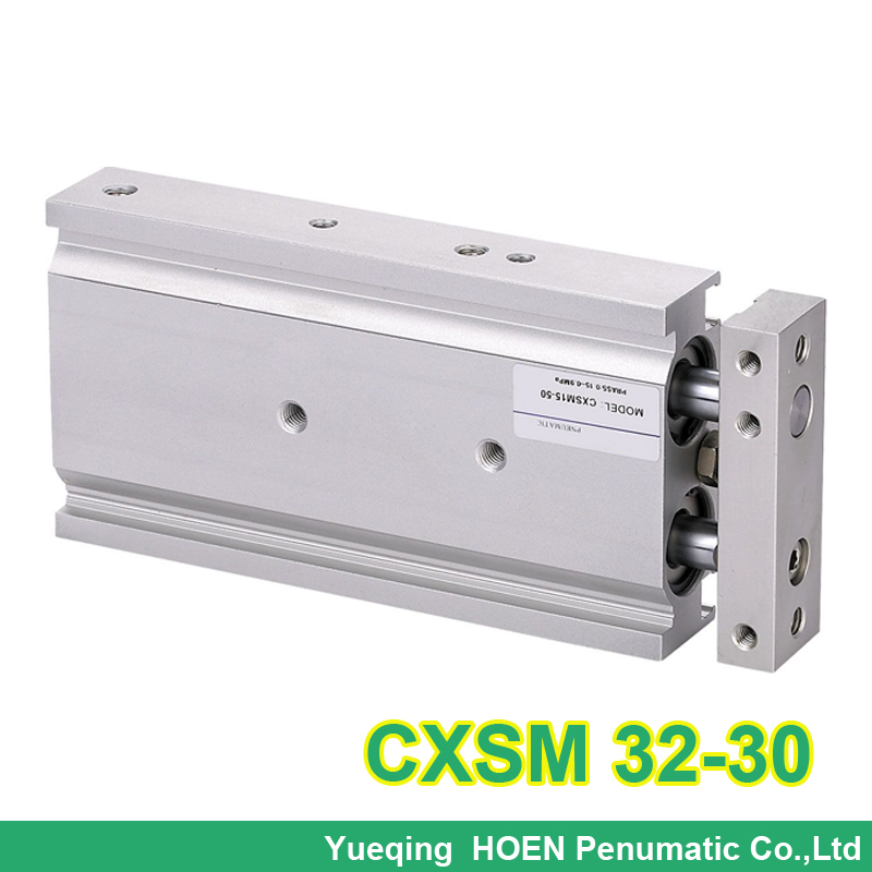 CXSM32-30 High quality double acting dual rod piston air pneumatic cylinder CXSM 32-30 32mm bore 30mm stroke with slide bearing general model cxsm32 50 compact type dual rod cylinder double acting 32 40mm