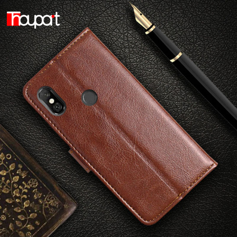 Thouport Case For Xiaomi Redmi Note 6 Pro 4 + 64 GB Leather Cases Retro Card Wallet Flip Cover Redmi Note6 Pro Case 3/32GB 6.26 image