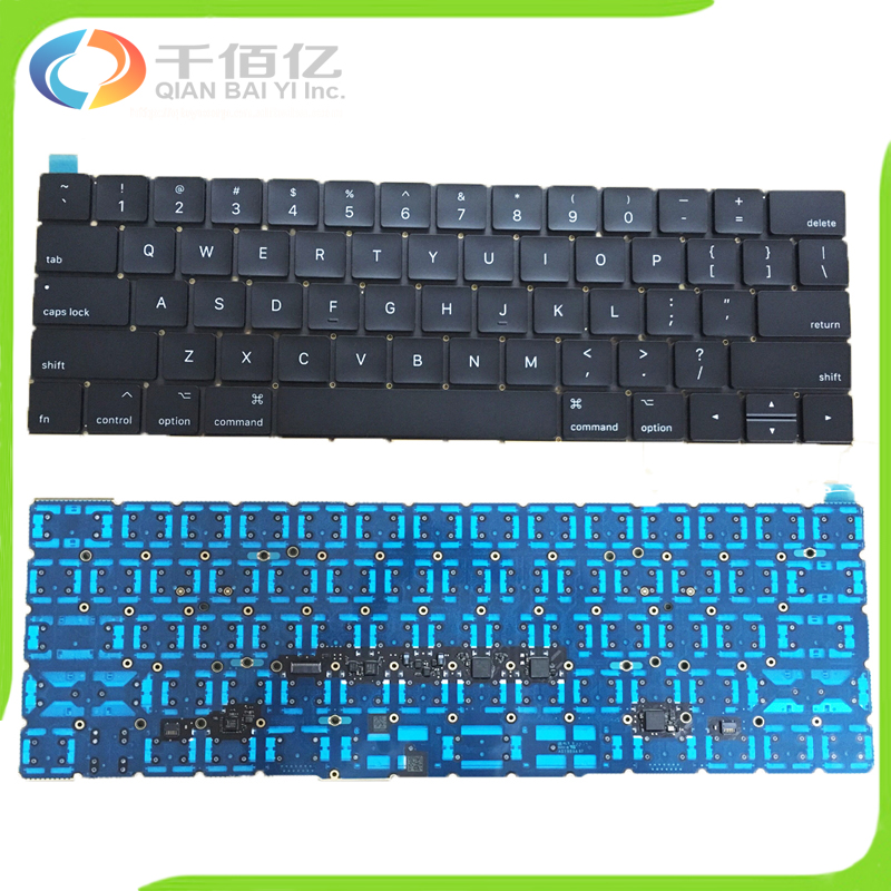 Laptop Original New A1706 Keyboard 2016 2017 Year US For Macbook Pro Retina 13 A1706 Replacement Layout EMC 3162 EMC 3071 image