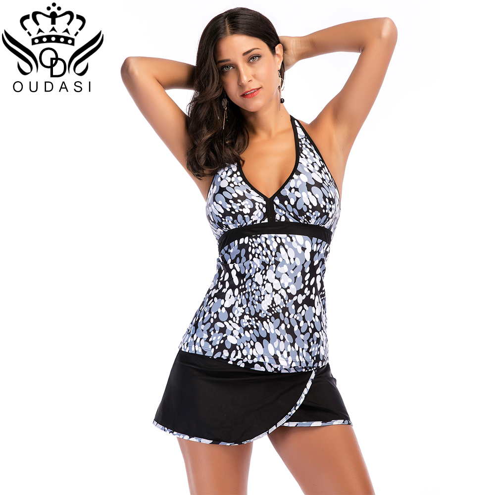 plus size swimwear women tankini sets large sized printe push up swimsuit backless beach dress. Black Bedroom Furniture Sets. Home Design Ideas