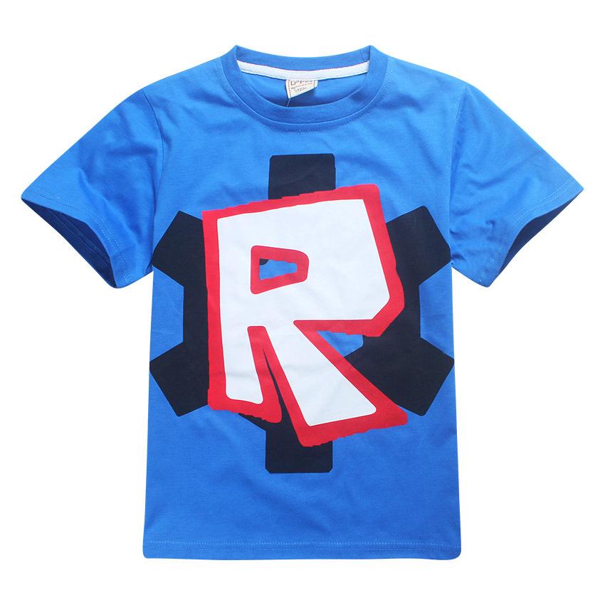 HTB1vQh2QpXXXXXXaVXXq6xXFXXXN - Cute T Boys Girls T-shirt Baby Clothing Little Boy Girl Summer Shirt Cotton letter R printing Robot Tops Tees Clothes 4-12 years