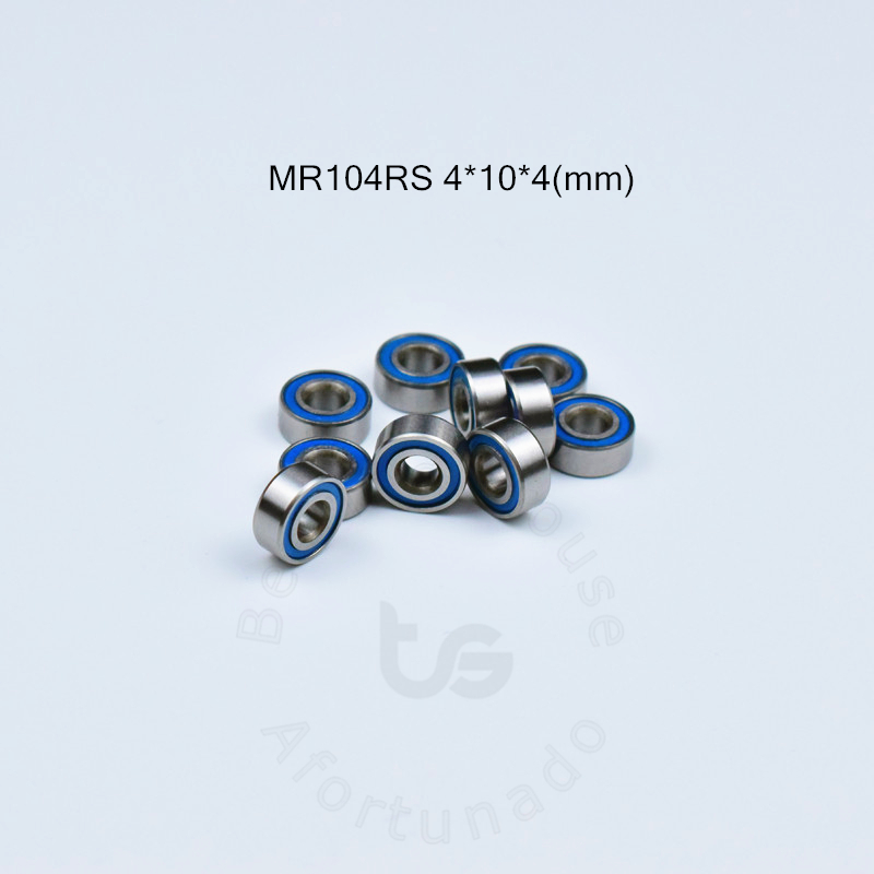 MR104RS 4*10*4(mm) 10piecesfree Shipping Bearing ABEC-5 BearingS Metal Sealed Mini Bearing MR MR104RS Chrome Steel Bearings