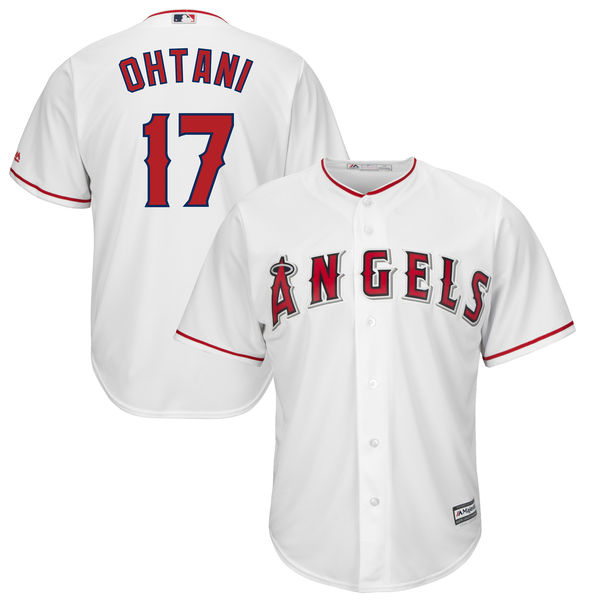 MLB Для мужчин Лос-Анджелес Ангелы Shohei Ohtani Бейсбол Белый дом Прохладный База плеер ...