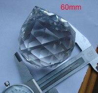 أحدث 8 قطع واضح 60 ملليمتر الزجاج الكريستال شنقا قطرات الكريستال الثريا أجزاء الكرة ل ستارة ديكور المنزل الزفاف ديكور