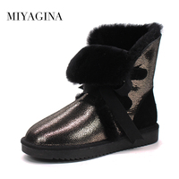 Wholesale Retail High Quality 2018 Australia Women S Classic Snow Boots Real Sheepskin Leather Medium Style