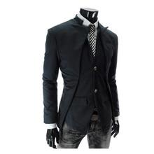 Горячая Распродажа, модный мужской пиджак, приталенный ассиметричный дизайн, пиджак-смокинг, повседневный деловой мужской блейзер, одежда, Прямая поставка