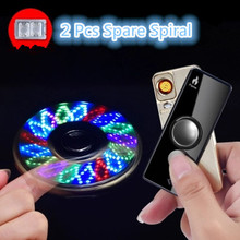 Gyro Spielzeug Fingertip Gyroskop Leichter USB Lade Winddicht Turbo Feuerzeuge Hand Spinner Leichter Wiederaufladbare Elektronische Plasma