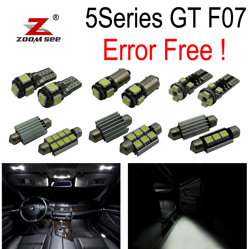 20pc X Canbus No Error for BMW 5 Series F07 5GT 528i GT 535i GT 550i GT LED Interior dome map Light Kit Package (2010+) 17pcs led canbus interior lights kit package for bmw 5 series e60 e61 2004 2010