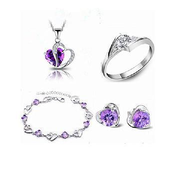 2017 venta caliente 925 sistemas de la joyería de plata esterlina stud pendientes & 45 cm colgante collares y anillos y pulseras de la joyería regalo