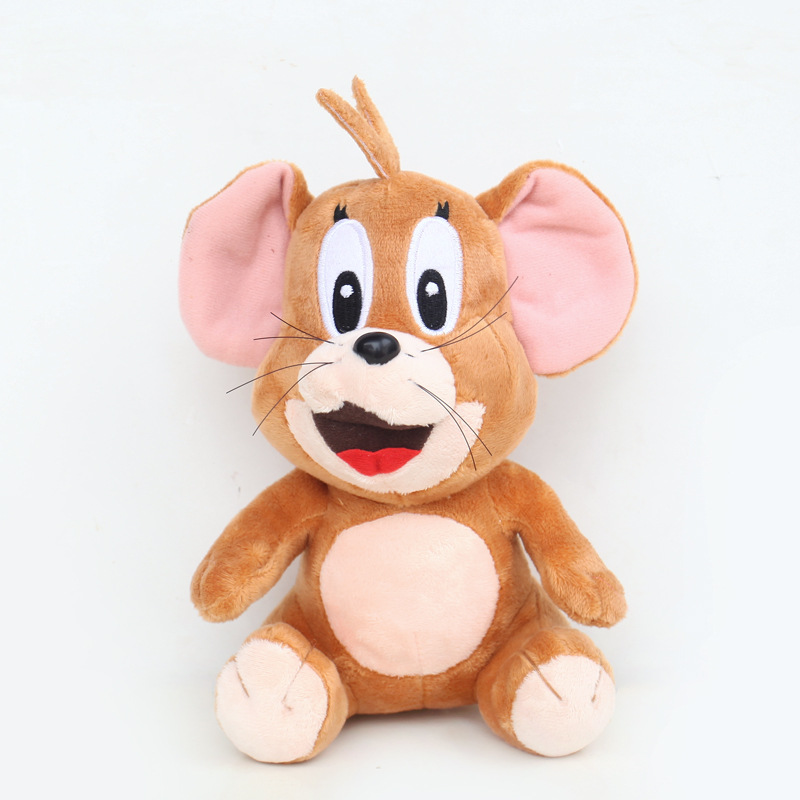 2pcs/lot 20cm Sitting Cat Tom and Jerry Mouse Plush Stuffed Toys Doll Soft Animals Toy Gifts for Kids Children
