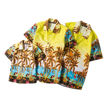 hot deal buy mens hawaiian shirts short sleeve tropical palm shirts men summer camisa masculina fancy beach shirts men holiday party clothing