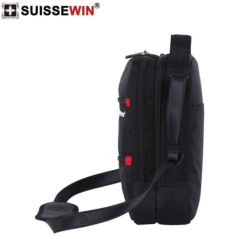 Image 3 - 2019 Swiss Fashion Shoulder Bag Men Mini Handbag Black Crossbody For Ipad Casual Oxford Messenger Satchel Music Bag Women