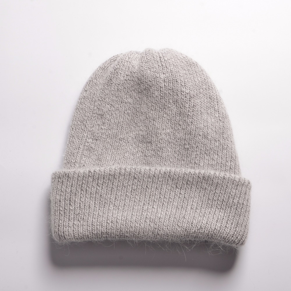 606e2d3649e Women Winter Cashmere Hats Beanie Hat Ladies Knit Hats For Women Rabbit Fur  Caps Soft And Comfortable Warm Hat -in Skullies   Beanies from Apparel ...