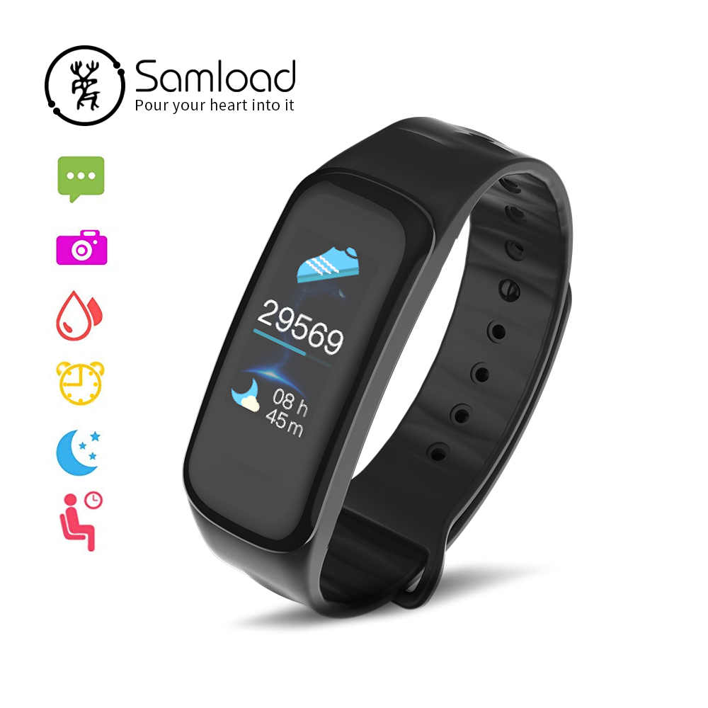 Samload sport Smart armband Farbe Touch Screen Fitness Tracke Blut Sauerstoff Handgelenk iP67 Band 3 Für Xiao Mi Android Apple iPhone X