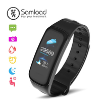 Samload sport Good bracelet Colour Contact Display screen Health Tracke Blood Oxygen Wrist iP67 Band three For Xiao Mi Android Apple iPhone X
