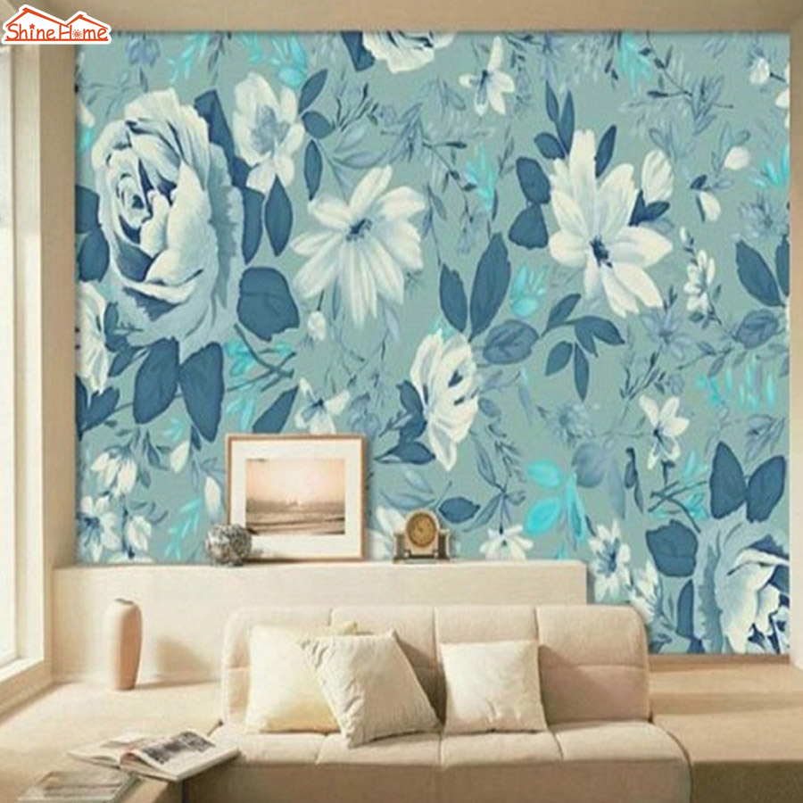 ShineHome-Large Custom Floral 3d Modern Room Photo wallpapers Fabric Wall Paper Murals Wahable Desktop Wallpaper-Roll-Size shinehome modern custom elephant skyline photo wallpaper 3d stereoscopic decorative wall paper murals boys children kids room