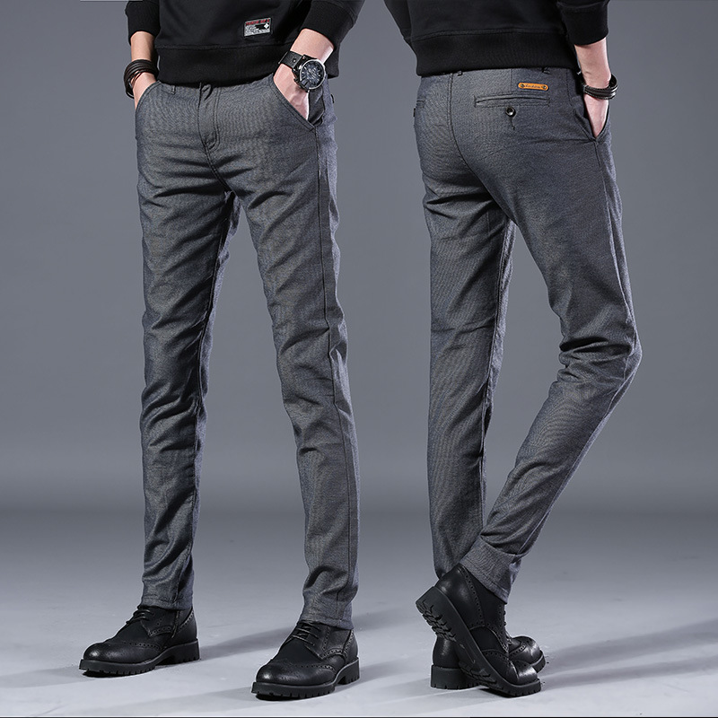 HTB1vQiVLwHqK1RjSZFEq6AGMXXaH Men's Business Casual Pants Trend Designer Korean Style Slim Male Trousers Classic Plaid High Quality Straight Stretch Pants Men