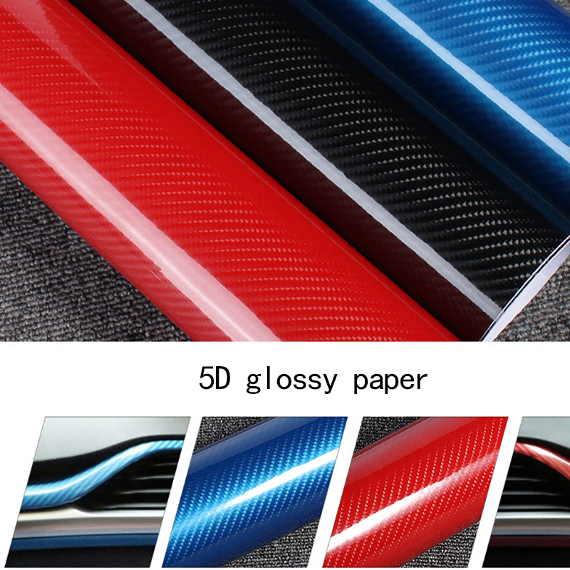 Image 2 - 1 Pc 50*200cm Black 5D Carbon Fiber Vinyl Film Car Wrap Film 5D Roll Car Sticker Auto Sport Exterior Accessories Film-in Car Stickers from Automobiles & Motorcycles