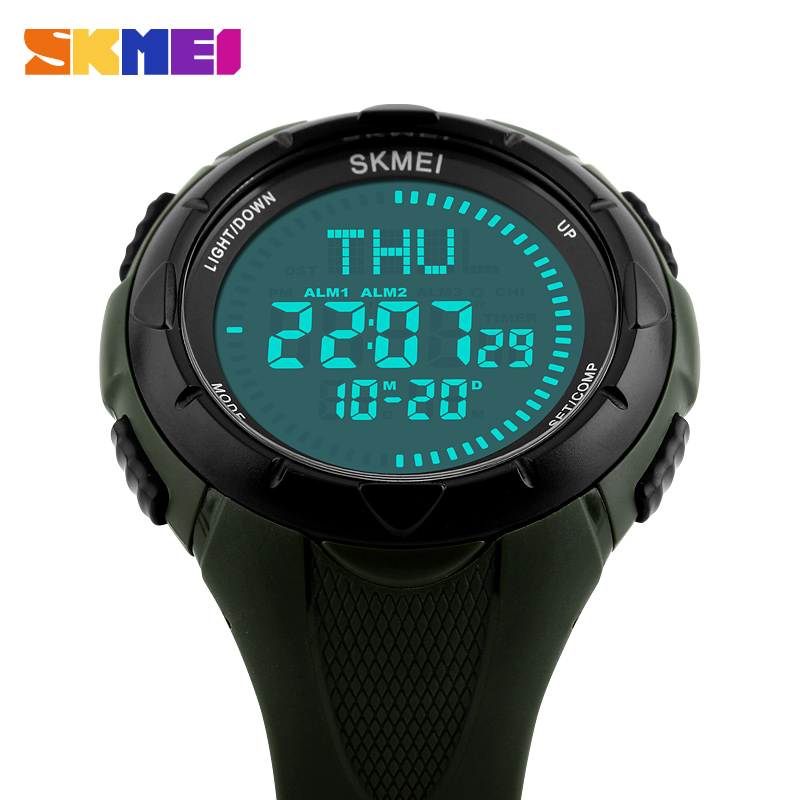 84ad9023dff Skmei Fashion Men Digital Wristwatches Compass Sport Watch Countdown Alarm  Waterproof Relogio Masculino Mens Wrist Watches Clock-in Digital Watches  from ...