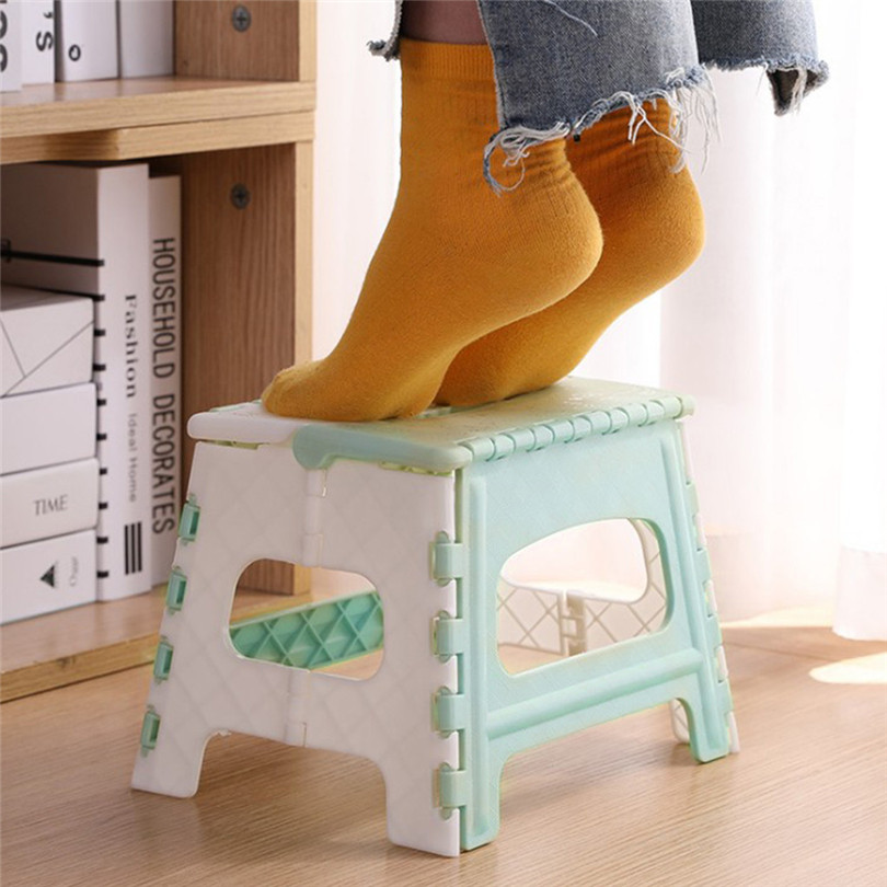 1PC 22x17x19cm Folding Step Creative Stool Plastic Multi Purpose Folding Step Stool Home Train Outdoor Storage Foldable #4MM31|Stools & Ottomans| |  - title=