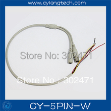 Free shipping 5 Pin(2P 2.0mm 3P 1.5mm) White/Black/Grey Cable for CCTV Camera