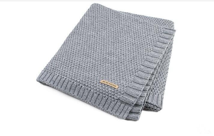 Baby Blanket Knitted Newborn Swaddle Wrap Blankets Super Soft Toddler Infant Bedding Quilt For Bed Sofa Basket Stroller Blankets arnigu brief style soft blanket bedding sofa throws 120x200cm 150x200cm 180x200cm 200x230cm winter bedsheet leisure blankets