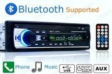 2015 Novo 1 DIN 12 V Carro MP3 player de Rádio de Áudio Estéreo Construído em Bluetooth Telefone FM com USB/SD MMC Porta Eletrônica Do Carro In-Dash