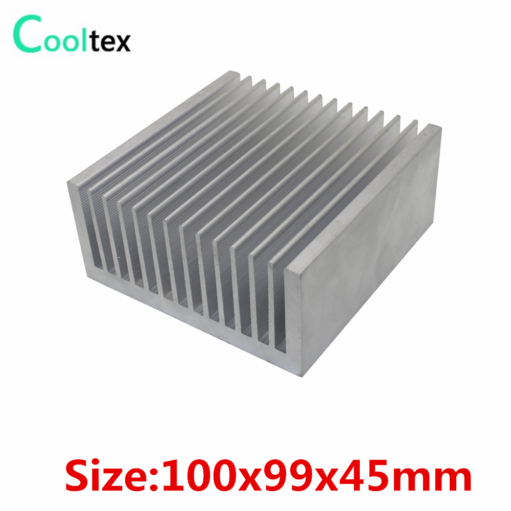 (High power) 100x99x45mm Aluminum Extruded heatsink Heat Sink radiator cooler for chip LED Electronic cooling DIY high power 125x125x45mm aluminum heatsink heat sink radiator for electronic chip led cooler cooling recommended