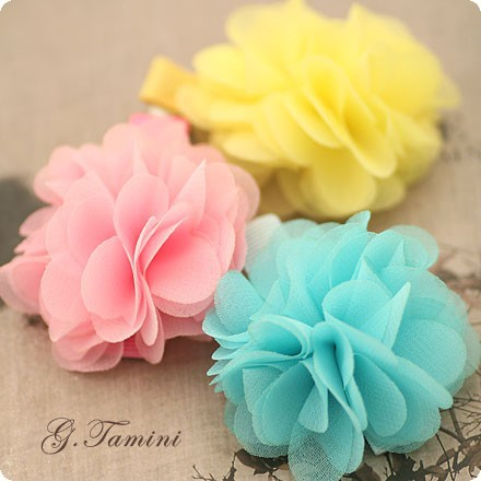 children s soft chiffon fabric flower summer hair for