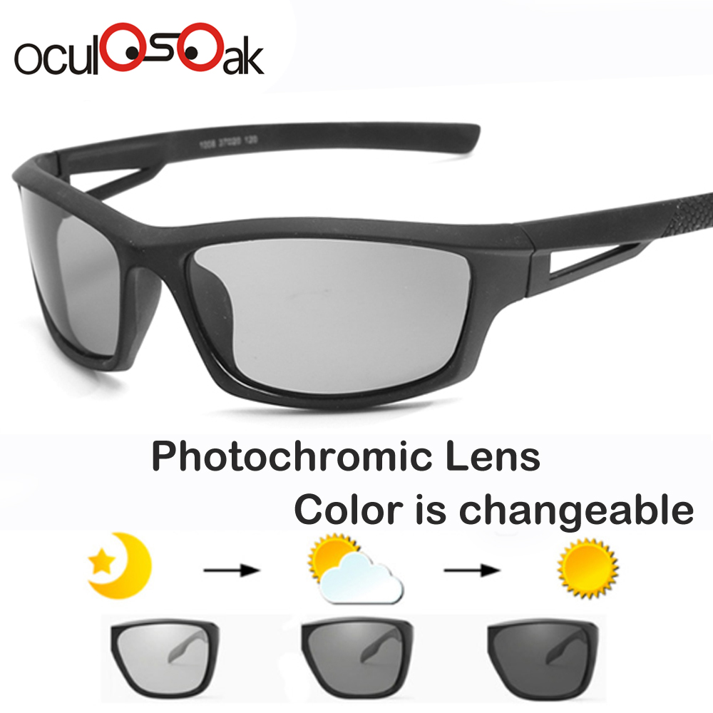 2019 Driving Photochromic Sunglasses Men Polarized Chameleon Discoloration Sun glasses for men oculos de sol masculino in Men 39 s Sunglasses from Apparel Accessories