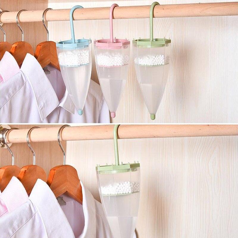 Wardrobe Hanging Dehumidifier Damp Trap Umbrella Shape Air Moisture Mildew Absorb 669