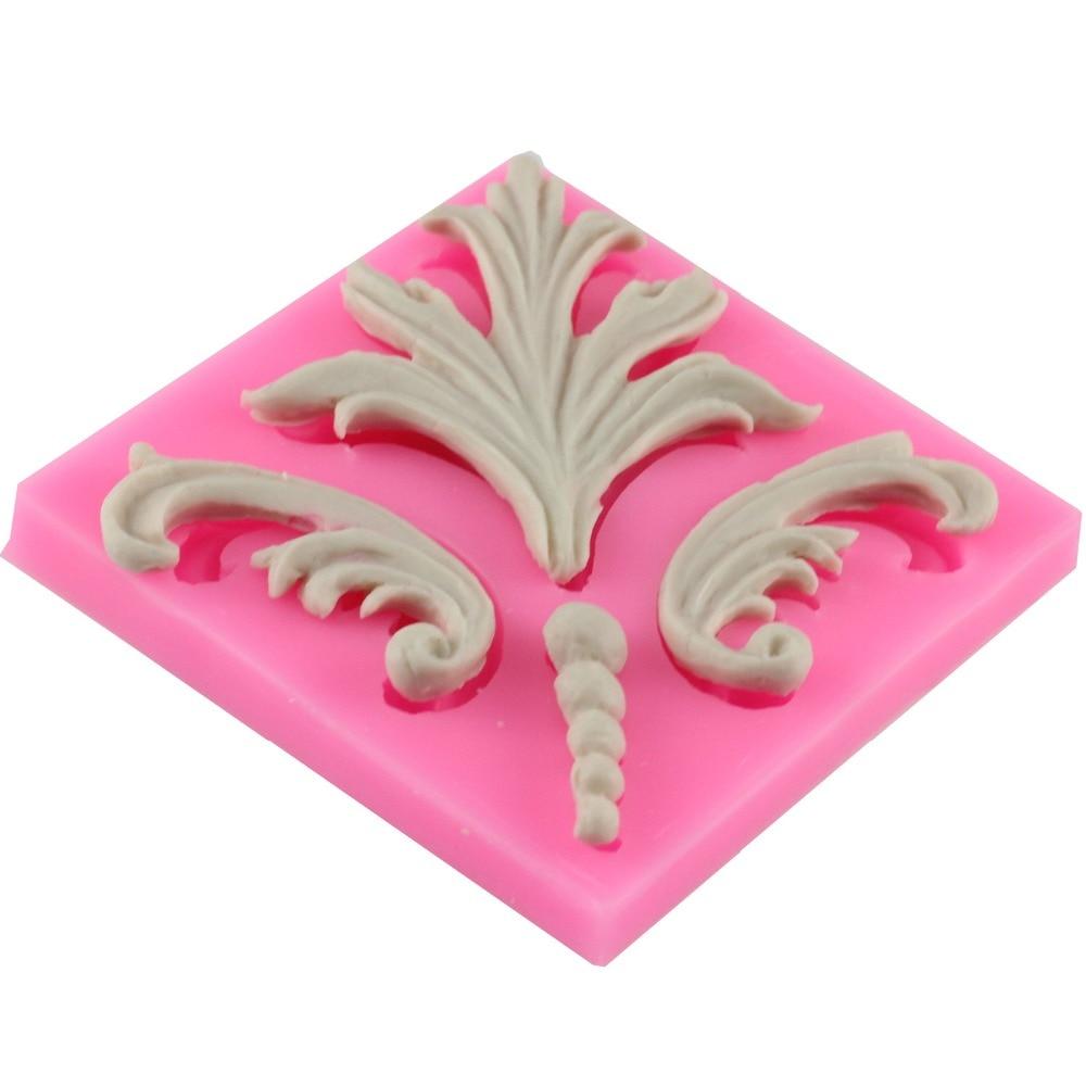 Frunze de silicon tort mucegai flori de viță de vie silicon mucegai bucătărie vase de ciocolată tort decorare instrumente F0671